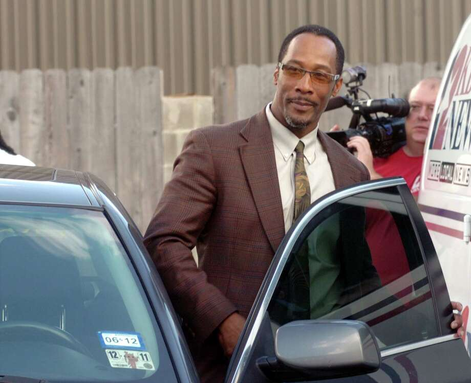 Calvin Walker, BISD's electrician of record, gets into his car after Judge Ron Clark declared a mistrial in his federal trial Thursday. Walker was accused of defrauding and overbilling the school district of nearly $4 million. Pete Churton/The Enterprise Photo: Pete Churton