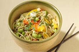 Green Tea Soba with Edamame & Vegetables as seen in San Francisco on April 4, 2011. Food styled by Stephanie Kirkland.