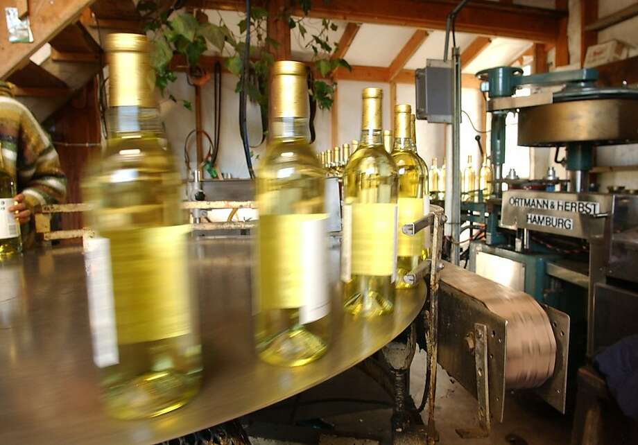 Bottling at Frey Vineyards. Photo: Penni Gladstone, SFC 2003