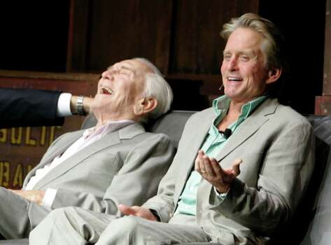 KIRK: Actors Kirk and Michael Douglas. (There is a Michael in this year's list as well.) Photo: (AP Photo/Adam Hunger)