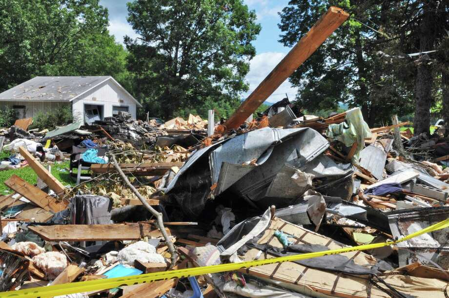 Site of a house explosion on Route 29 in Salem Wednesday July 13, 2011, that killed 6 people, including a baby.  (John Carl D'Annibale / Times Union) Photo: John Carl D'Annibale / 00014053A