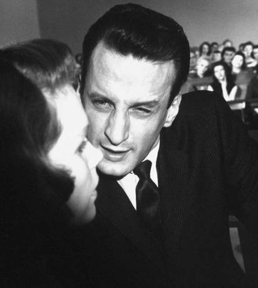 """George C. Scott grills Lee Remick in the 1959 film  """"Anatomy of a Murder."""" Censorship issues were a little different in those days. Photo: Columbia Pictures 1959"""