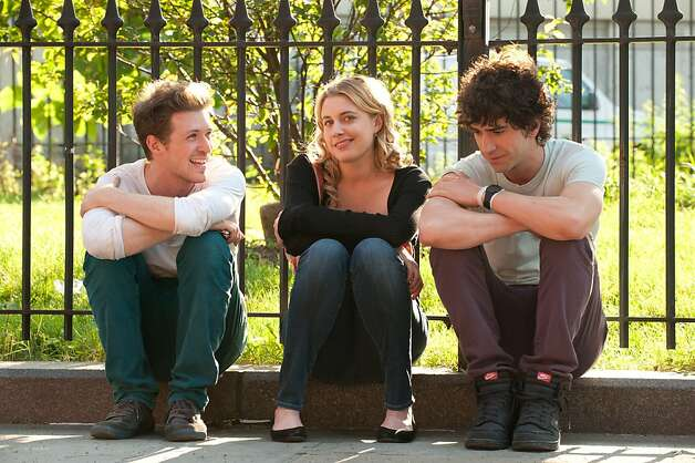 Writer/director Daryl Wein and actors Greta Gerwig and Hamish Linklater on the set of LOLA VERSUS.  Photography By Myles Aronowitz Photo: Myles Aronowitz, Fox Searchlight