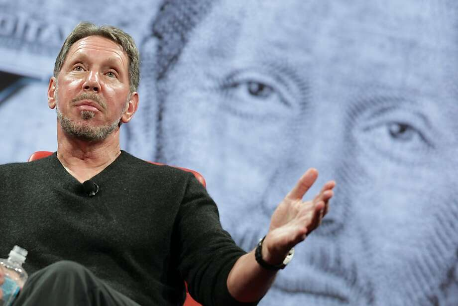 Oracle CEO Larry Ellison, speaking Wednesday at the D: All Things Digital conference, recalls meeting his Woodside neighbor Steve Jobs because of the Apple co-founder's noisy peacock. Photo: Asa Mathat, All Things Digital