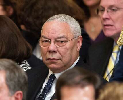 Former Secretary of State Colin Powell is seen in the East Room of the White House in Washington, Thursday, May 31, 2012, during a ceremony to unveil the official portraits of former President George W. Bush and former first lady Laura Bush. Photo: Pablo Martinez Monsivais, Associated Press / AP