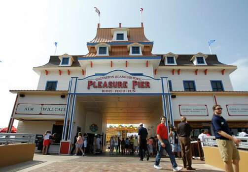 The new Pleasure Pier, Landry's $60 million water front entertainment district located at the site of the old Flagship Hotel on Seawall Boulevard, Friday, May 25, 2012, in Galveston. ( Karen Warren / Houston Chronicle ) Photo: Karen Warren / © 2012  Houston Chronicle