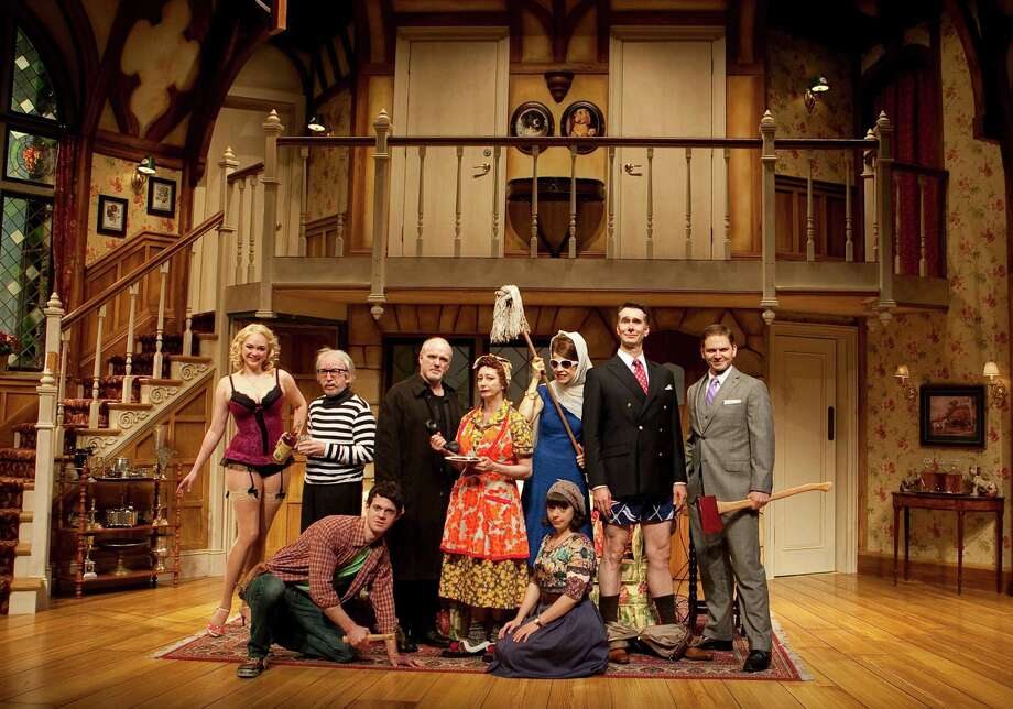 review disaster sparks hilarity in 39 noises off 39 houston chronicle