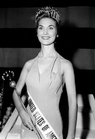 "Eurlyne Howell, Miss USA 1958, is captured for posterity in this picture from July 23, 1958, the night she became Miss USA.  Part of the original caption on this photo by the Associated Press read, ""She is 18 and a sophomore at Centenary College in Louisiana.  The new American beauty will face 34 foreign entrants in the Miss Universe judging beginning the following night."" Photo: Associated Press"