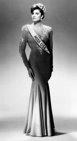 Michelle Royer, Miss USA 1987, the third of five back-to-back delegates from Texas to win the Miss USA pageant. Photo: Harry Langdon