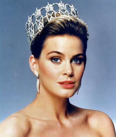 One of many official headshots of Courtney Gibbs, Miss USA 1988. Photo: Harry Langdon