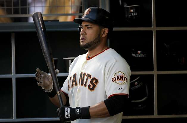 San Francisco Giants left fielder Melky Cabrera tied a Giants record for most hits in a month during their game against the Diamondbacks in San Francisco, Calif. Wednesday, May 30, 2012. Photo: Sarah Rice, Special To The Chronicle