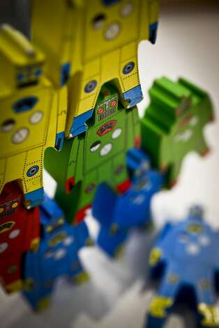 Stackable robots at Kookle Toys on Clement St. in San Francisco, Calif., are seen on Wednesday, Dec. 7, 2011. Photo: Russell Yip, The Chronicle