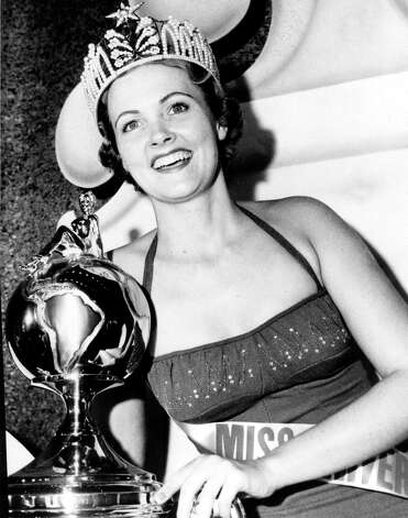 Miriam Stevenson, Miss USA 1954, from South Carolina, was the first Miss USA to become Miss Universe.  It wasn't until 1967 that Miss USA winners who ascended to the Miss Universe title passed on their national crown to the first runner-up. Photo: Miss Universe L.P., LLLP