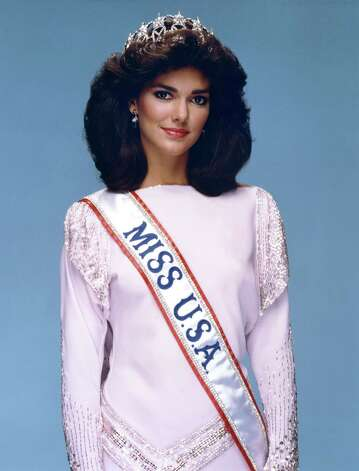 "Laura Martinez-Herring, Miss USA 1985, was 21 years old when she won her title.  Martinez-Herring was the first of five straight delegates from Texas to win the Miss USA title; later, she would change her name to Laura Harring and start a productive acting career which continues presently. She is perhaps best known for a role opposite Naomi Watts in ""Mulholland Drive."" Photo: Miss Universe L.P., LLLP"