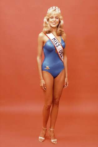 "Shawn Weatherly of South Carolina, Miss USA 1980, poses in the swimsuit she wore during the 1980 Miss USA Pageant in Miami Beach, Fla.  Weatherly went on to become Miss Universe 1980 and then a starring role in the TV series ""Baywatch."" Photo: Miss Universe L.P., LLLP"