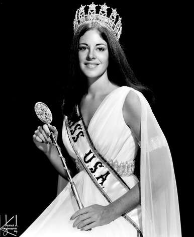 Amanda Jones, Miss USA 1973, poses for an official portrait. Jones, 22, was the first of two back-to-back delegates from Illinois to become Miss USA. Photo: Miss Universe L.P., LLLP