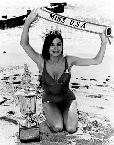 "Debbie Shelton, Miss USA 1970, takes the traditional ""day after"" photo.  Shelton went on to act in the TV series ""Dallas"" and in the Brian De Palma thriller ""Body Double."" Photo: Miss Universe L.P., LLLP"