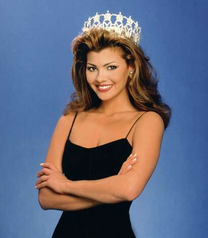 Ali Landry, Miss USA 1996, poses for an official photograph. Landry, from Louisiana, followed up her reign with a spotty acting career; she is better known for a Doritos commercial that aired during a Super Bowl. Photo: Miss Universe L.P., LLLP