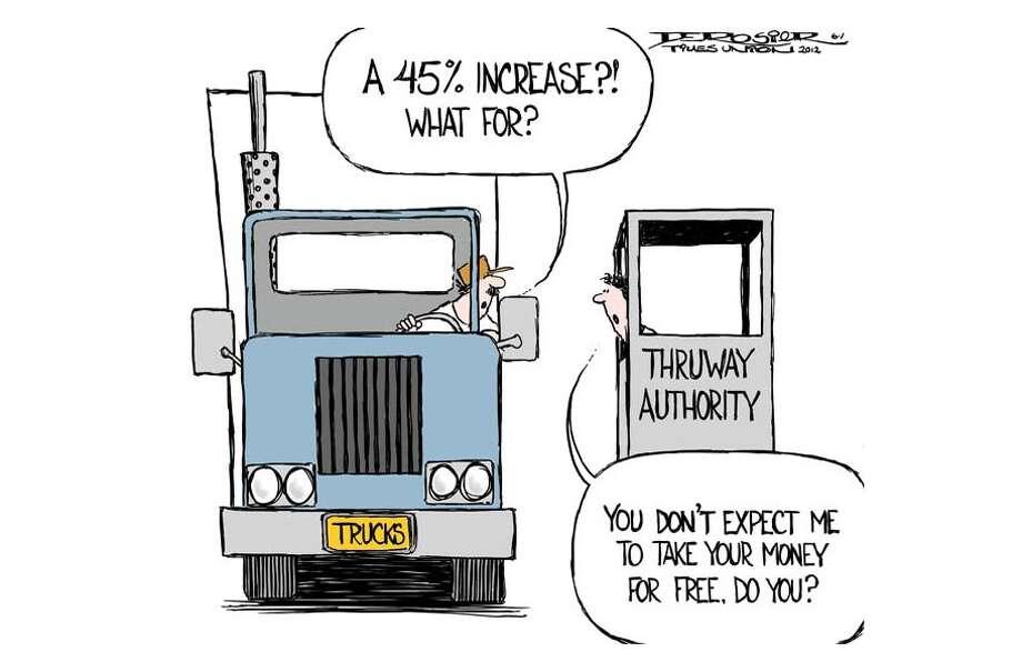 Thruway Authority proposes 45% increase in tolls for trucks. Photo: John De Rosier
