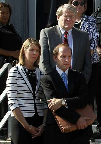 Attorneys for former Sen. John Edwards listen as he speaks to the media in front of the federal courthouse in Greensboro, North Carolina, Thursday, May 31, 2012. Edwards was found not guilty on one of six counts in his campaign finance trial and announced it could not agree on the five remaining counts. (Chucky Liddy/Raleigh News & Observer/MCT) Photo: Chuck Liddy, McClatchy-Tribune News Service