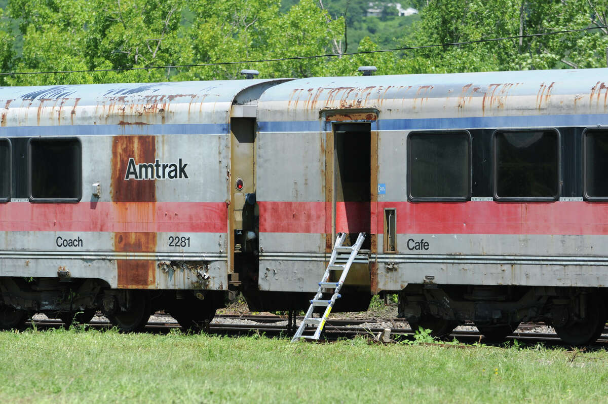 Never-used bullet train cars at the Glenville Business and Tech Park Thursday, May 31, 2012 in Glenville, N.Y. (Lori Van Buren / Times Union)