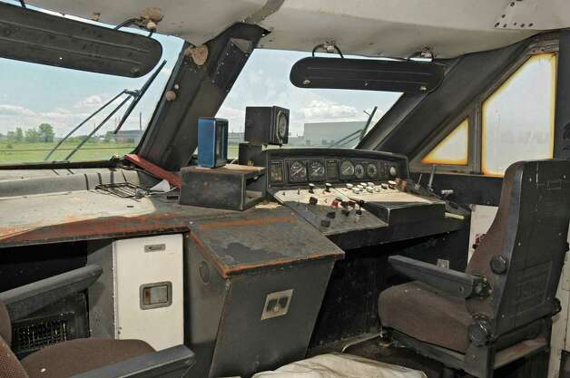 Engineer seats in a never-used bullet train car at the Glenville Business and Tech Park Thursday, May 31, 2012 in Glenville, N.Y. (Lori Van Buren / Times Union) Photo: Lori Van Buren