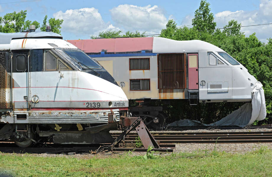 Never-used bullet train cars at the Glenville Business and Tech Park Thursday, May 31, 2012 in Glenville, N.Y. (Lori Van Buren / Times Union) Photo: Lori Van Buren