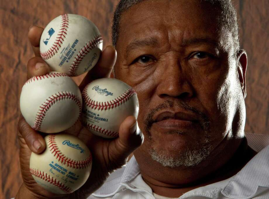 Back in the day, just seeing J.R. Richard on the mound with one ball in his hand was enough to terrify National League batters. Photo: Karen Warren / © 2012  Houston Chronicle