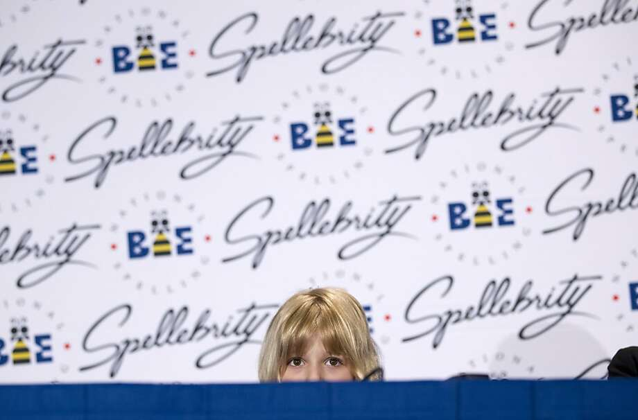 Six-year-old Lori Anne Madison of Woodbridge, Va., the youngest contestant in the history of the National Spelling Bee, speaks during a news conference,  Thursday, May 31, 2012 in Oxon Hill, Md.  (AP Photo/Evan Vucci) Photo: Evan Vucci, Associated Press