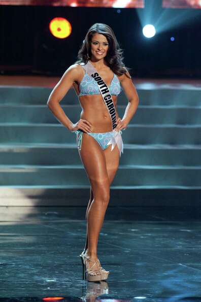 Miss South Carolina USA 2012, Erika Powell, from Greenville, competes in her swimwear by Kooey Austr
