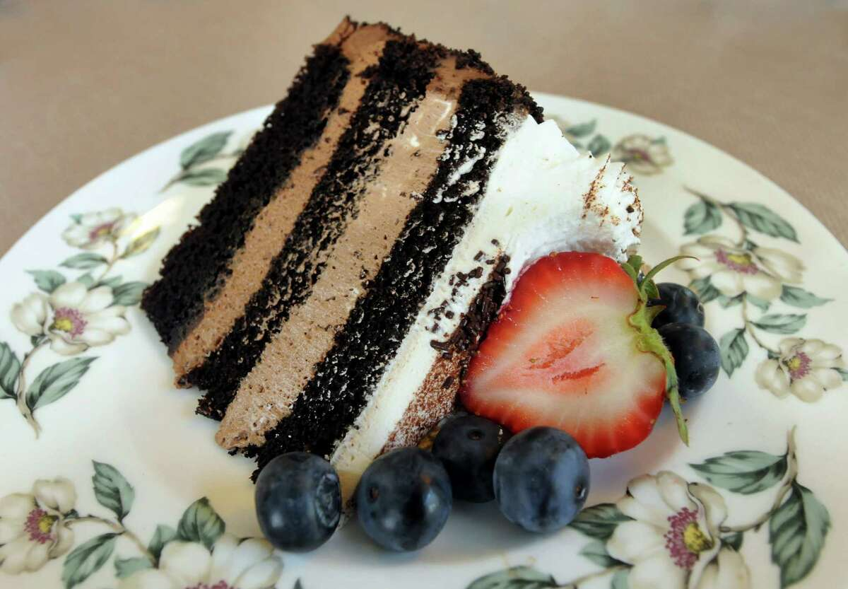 Chocolate Mousse Cake with fresh berries on Friday, May 25, 2012, at Tailored Tea in Latham, N.Y. (Cindy Schultz / Times Union)