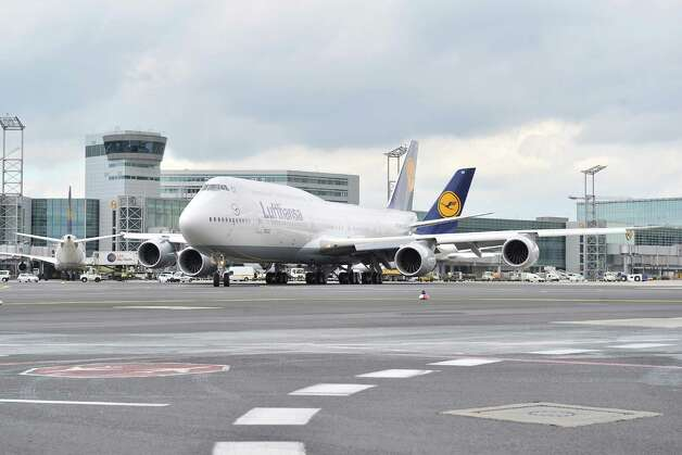 The first Boeing 747-8 Intercontinental for launch airline Lufthansa taxis before taking off on its first commercial flight, from Frankfurt, Germany to  Washington, D.C. on Friday, June 1, 2012. Photo: JUERGEN MAI / JUERGENMAI.COM