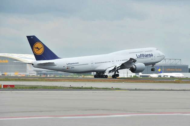 The first Boeing 747-8 Intercontinental for launch airline Lufthansa takes off on its first commercial flight, from Frankfurt, Germany to Washington, D.C. on Friday, June 1, 2012. Photo: JUERGEN MAI / JUERGENMAI.COM