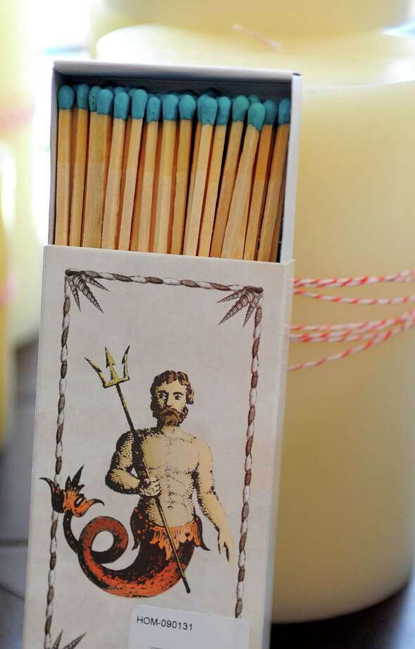 Trohv Home & Gift offers many nautical items and gifts that are very popular this season. Here, a box of matches. (Lloyd Fox/Baltimore Sun/MCT) Photo: Lloyd Fox / Baltimore Sun
