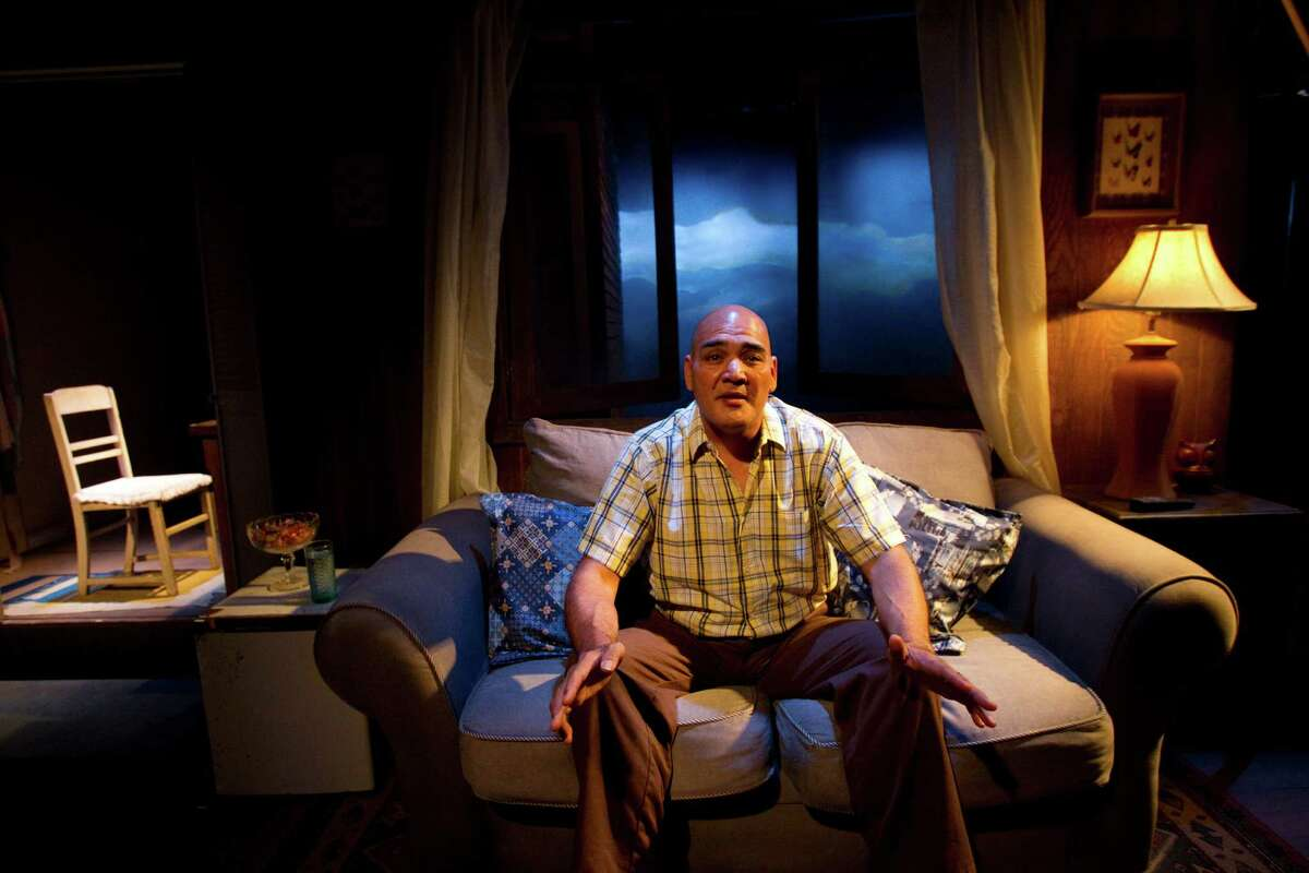 Ricky Welch rehearses a scene from the play American Falls at DiverseWorks Wednesday, May 23, 2012, in Houston. (Cody Duty / Houston Chronicle)