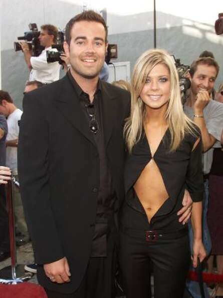 One-time couple Carson Daly and Tara Reid at the MTV Movie Awards 2000 on June 03, 2000  (Getty Imag