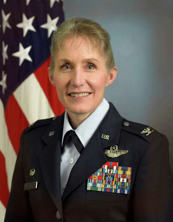 In this June 23, 2011 photo released by the U.S. Air Force, Col. Jeannie Leavitt is shown. Col. Leavitt, the woman who became the Air Force's first female fighter pilot in 1993 is adding another first to her list of achievements. Leavitt becomes the first female to command a combat fighter wing Friday at Seymour Johnson Air Force Base in North Carolina. (AP Photo/USAF) / USAF