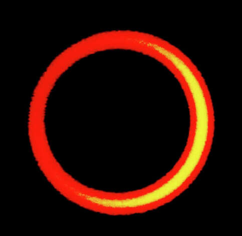 This pinhole photo of the recent annular solar eclipse was made by a camera in which the lens was replaced by aluminum foil pierced by a pin. Photograph by Forrest M. Mims III. Photo: Forrest M. Mims III