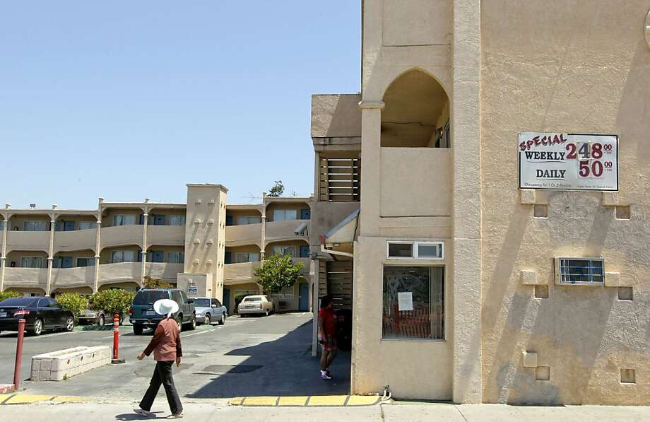 The Economy Inn at 122 E. 12th St., in Oakland, Ca. on Friday June 1, 2012. An Alameda County judge has shut down two Oakland motels that authorities say are chronic hot beds for prostitution. The Economy Inn and the International Lodge must close for at least one year and the owners must pay  $45,000 in fines. Photo: Michael Macor, The Chronicle