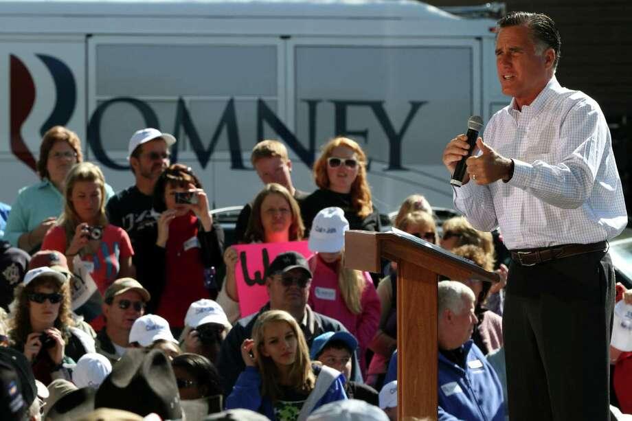 En Colorado: Romney estaba tan seguro de su victoria en Texas que hizo campaña en otros estados ese día. Photo: Mary Altaffer / AP