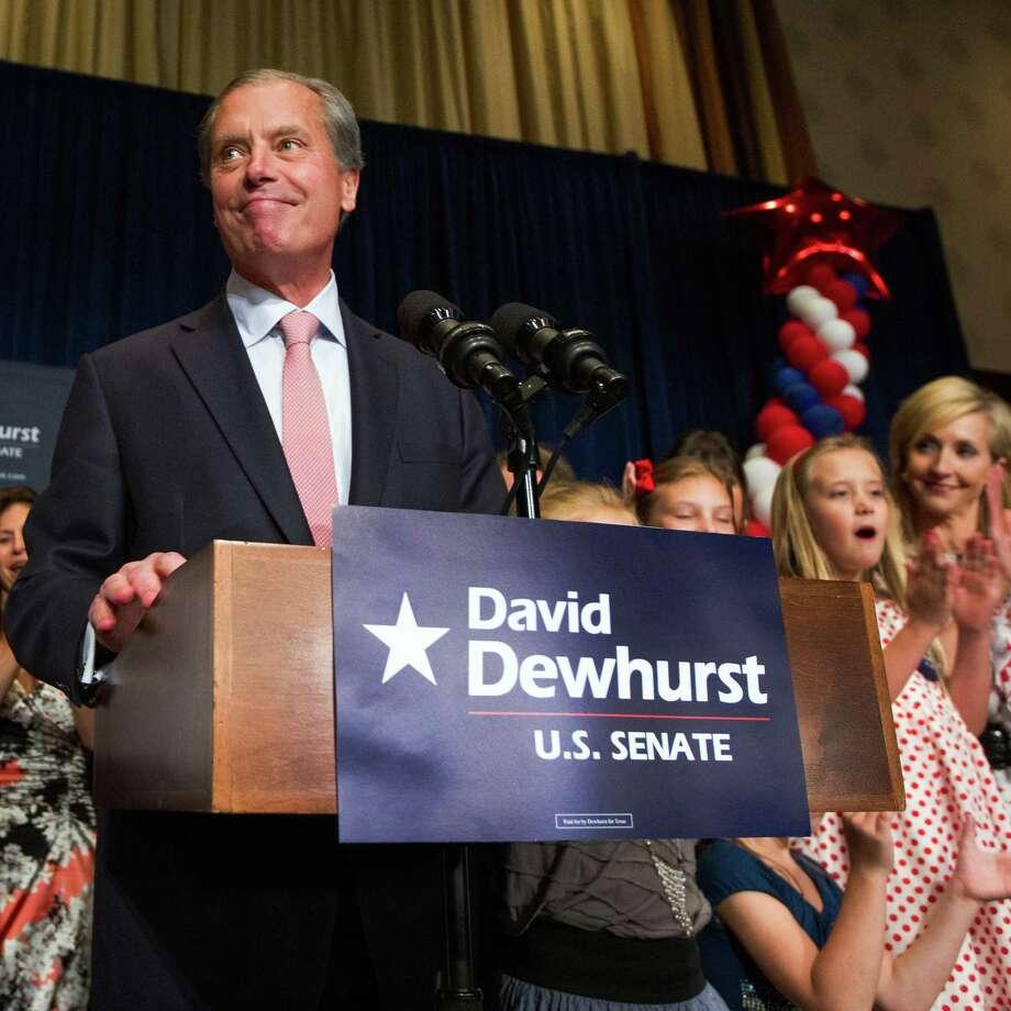 El candidato establecido: el vicegobernador de Texas, David Dewhurst, competirá en segunda vuelta por un puesto en el Senado federal contra Ted Cruz. Photo: Smiley N. Pool / © 2012  Houston Chronicle