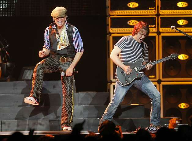 In this March 1, 2012 file photo, David Lee Roth, left, and Eddie Van Halen perform during a Van Halen concert at Madison Square Garden in New York. A source familiar with the band's summer tour who was not authorized to speak publicly confirms that some of Van Halen's long-scheduled performances this summer will be postponed. The group's website lists tour dates through June 26. Photo: Jason DeCrow, AP