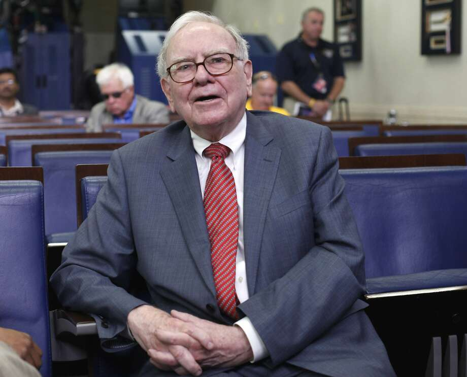 Warren Buffett in the White House Briefing Room after he met with President Obama, who wanted an update on the Giving Pledge co-initiated by Buffett. Photo: Pablo Martinez Monsivais, Associated Press