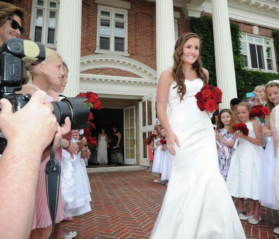 Graduating senior Alexandra Wales of Greenwich during the Convent of the Sacred Heart graduation in Greenwich, Friday, June 1, 2012. Photo: Bob Luckey / Greenwich Time