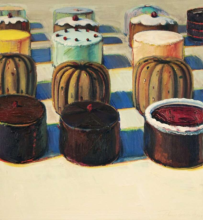 """Various Cakes"" (1981) oil on canvas by Wayne Thiebaud   25"" x 23"" Photo: Facundo Arganaraz"