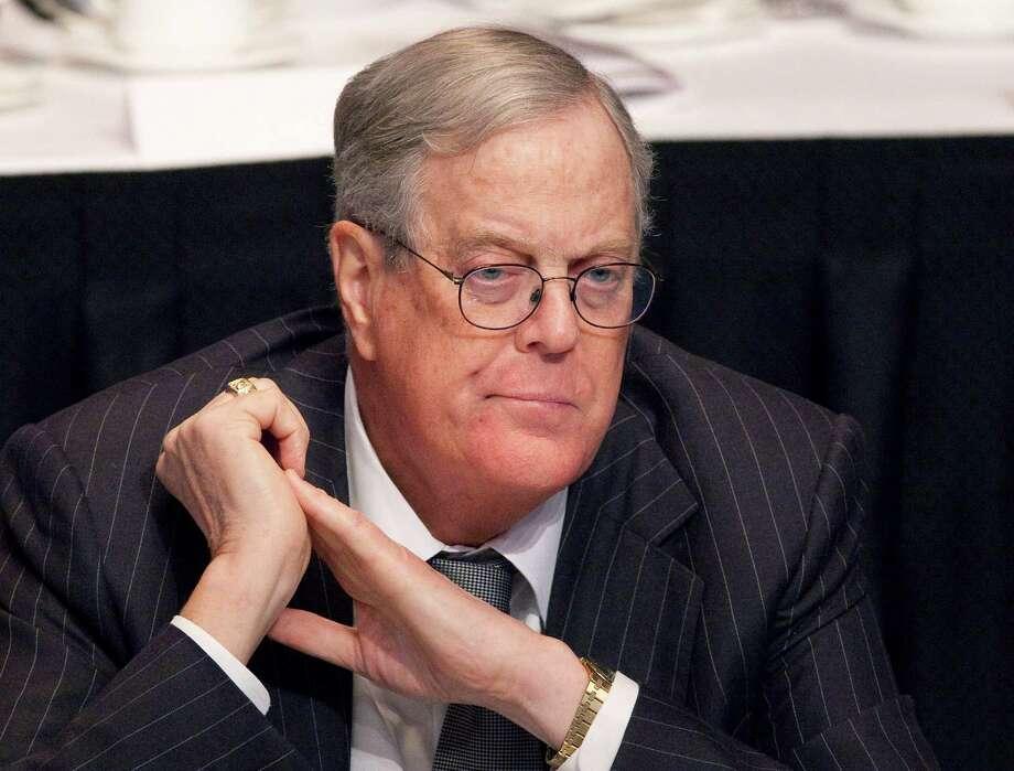 No.4 David Kioch is worth an estimated $31 billion, according to Forbes. Photo: Mark Lennihan / AP