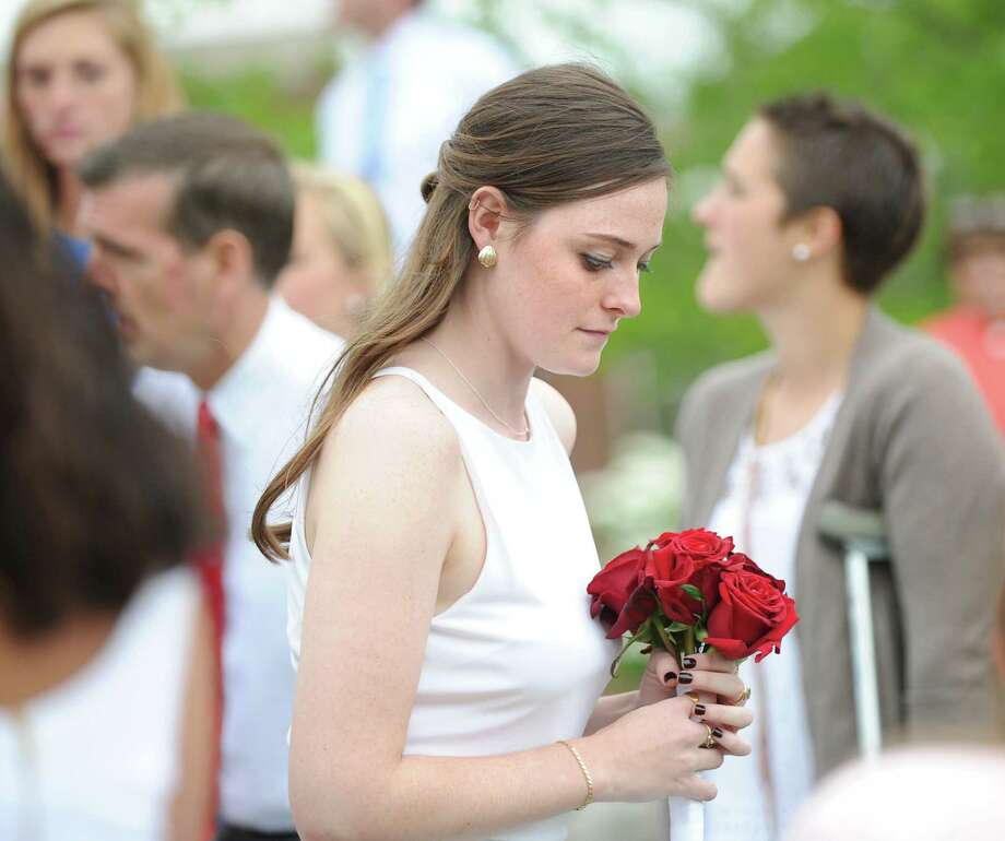 Graduating senior Lucy Claire Adams during the Convent of the Sacred Heart graduation in Greenwich, Friday, June 1, 2012. Photo: Bob Luckey / Greenwich Time
