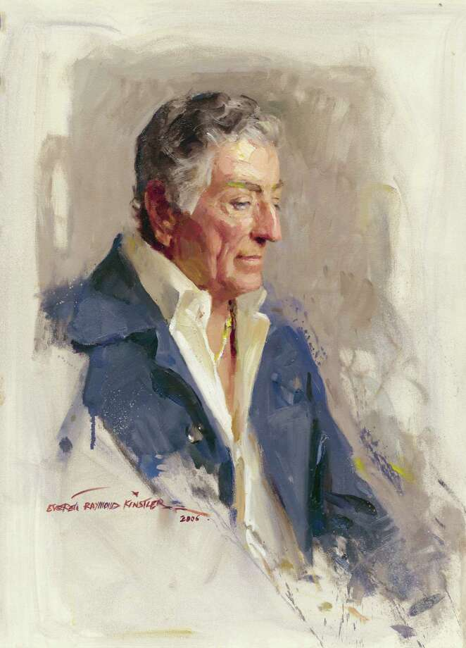 """""""Everett Raymond Kinstler: Pulps to Portraits"""" will be at The Bellarmine Museum June 14 through Sept. 28. Above is his 2006 portrait of legendary singer Tony Bennett. Photo: Contributed Photo"""