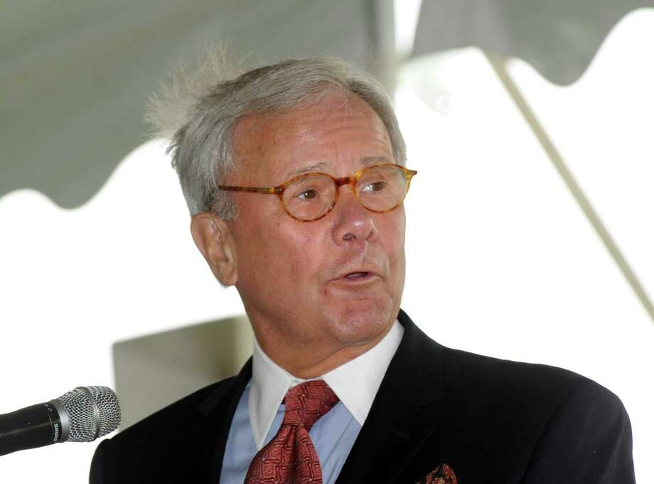 Tom Brokaw during the Convent of the Sacred Heart graduation in Greenwich, Friday, June 1, 2012. Photo: Bob Luckey / Greenwich Time