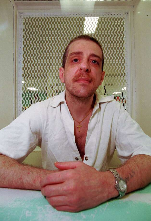 DOUGLAS ROBERTS,  CONTACT FILED:  HENRY SKINNER 6/11/2003--Henry Skinner, today, in an interview cubicle at the Polunsky Unit of the TDCJ where Texas' Death Row is located. Europeans who write to inmates on death row, an attempt to provide them with a human bond as they wait out their legal appeals. I'll be interviewing three men on death row, all of whom correspond with these Swiss men and women.  Photo by Steve Ueckert / Chronicle Photo: Steve Ueckert / Houston Chronicle
